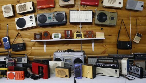 Экспозиция музея связи, открытого общественным деятелем Владимиром Столяровым в селе Толбухино Ярославской области.