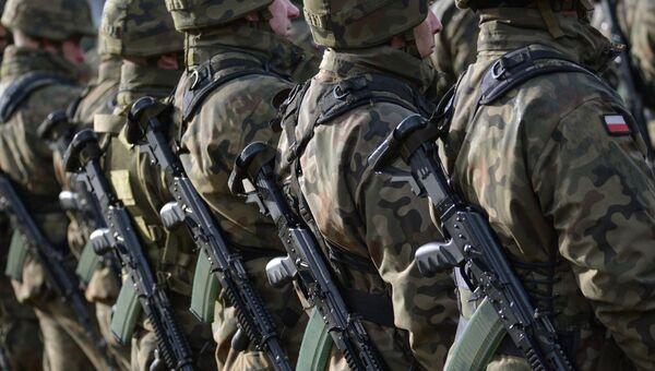 Польские военнослужащие на базе в Ожише