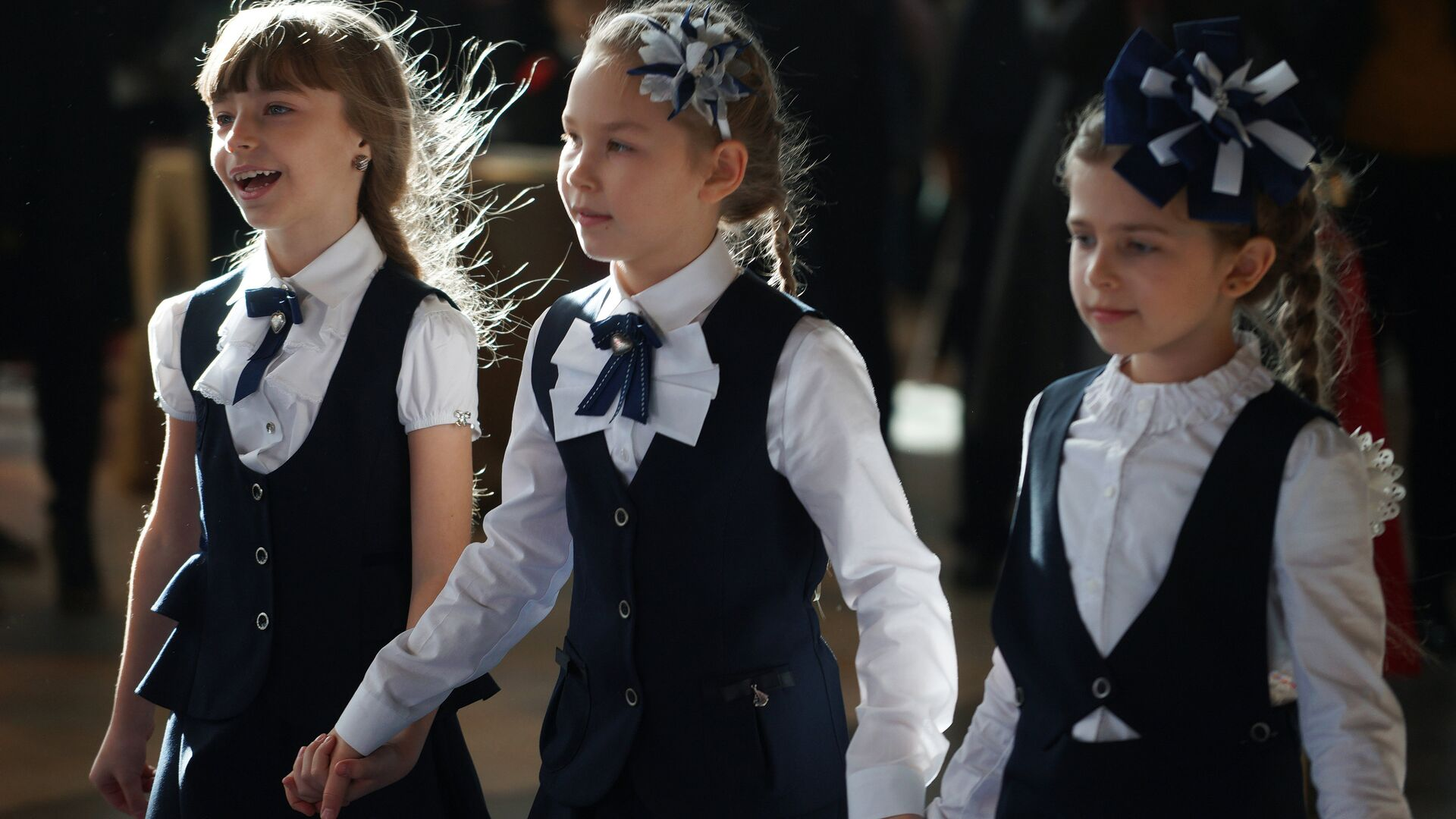 Дети на модном показе школьной формы - РИА Новости, 1920, 23.04.2021