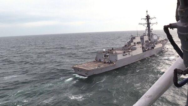 Во время проведения совместных учений Военно-Морских Силы Украины с эсминцем ВМС США Джеймс Уильямс. 2 декабря 2017