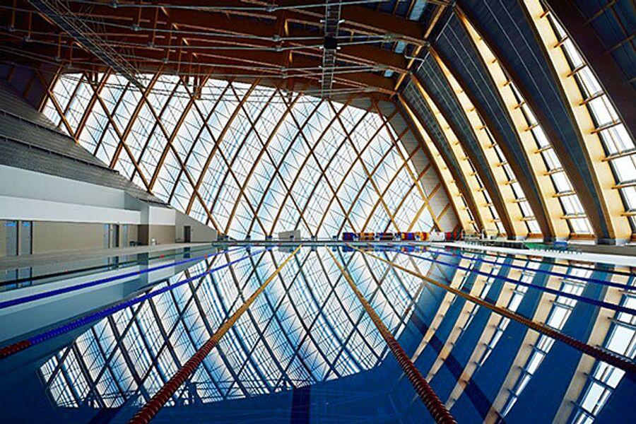 Дворец водных видов спорта в Казани сооружён по уникальным технологиям из LVL-бруса