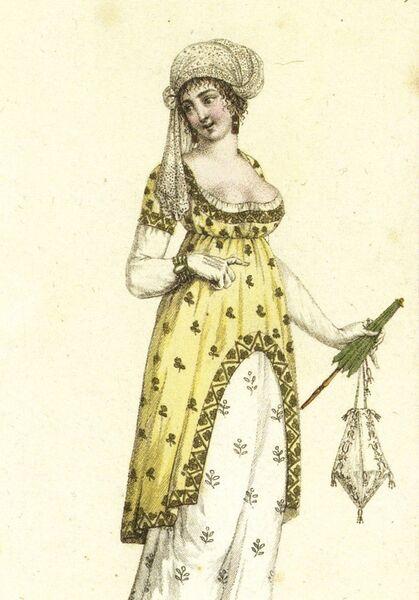 Щеголиха в тюрбане а-ля мамелюк. Начало 1800-х годов. Национальная библиотека Франции (Париж)