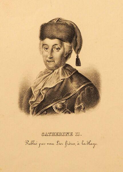 Гравюра, выполненная на основе портрета М. Шибанова. Конец XVIII в. Частная коллекция (Париж)
