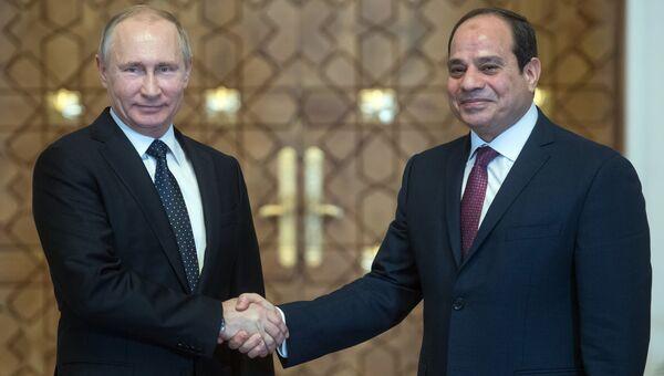 Президент РФ Владимир Путин и президент Египта Абдельфаттах Сиси. Архивное фото