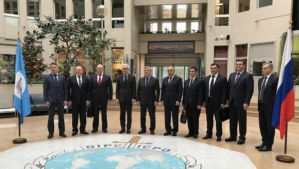 Рабочий визит Генерального прокурора Российской Федерации Юрия Чайки в Интерпол, Франция. 12 декабря 2017