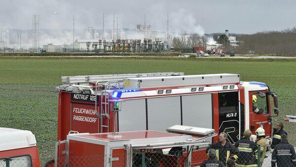 Место взрыва газопровода в Баумгартене, Австрия