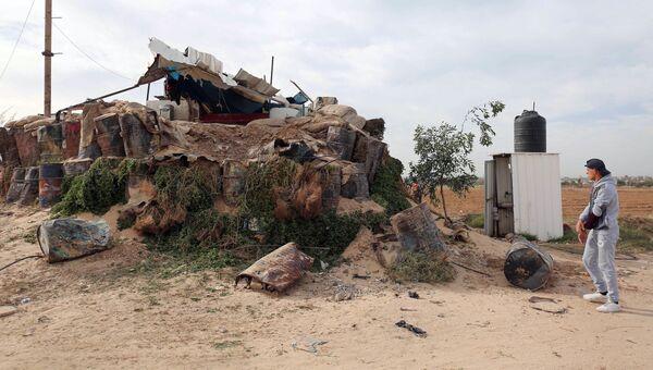 Последствия обстрела израильской стороной сектора Газа. 12 декабря 2017
