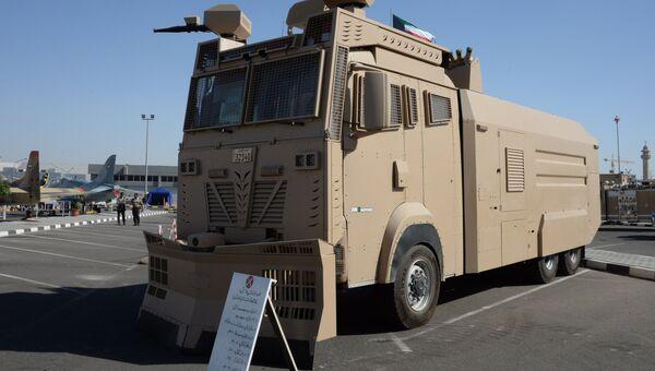 Автомобиль для разгона митингов Titan Национальной гвардии Кувейта на международной выставке вооружения и военной техники Gulf Defence & Aerospace-2017 в Эль-Кувейте