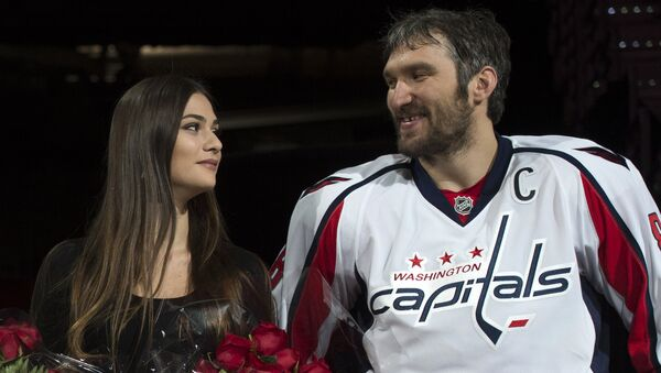 Актриса Анастасия Шубская и хоккеист Александр Овечкин