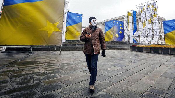 Участник акции в Киеве