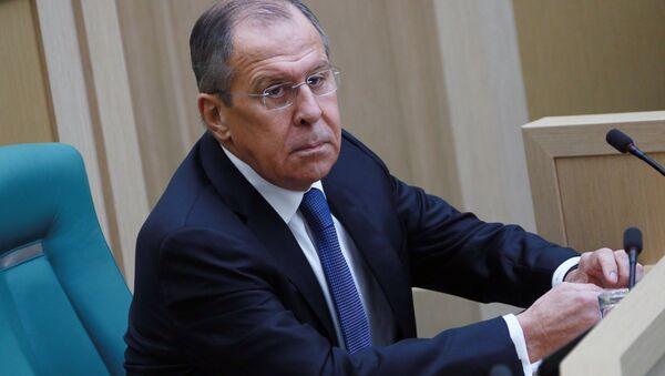 Сергей Лавров на заседании Совета Федерации РФ. 15 декабря 2017