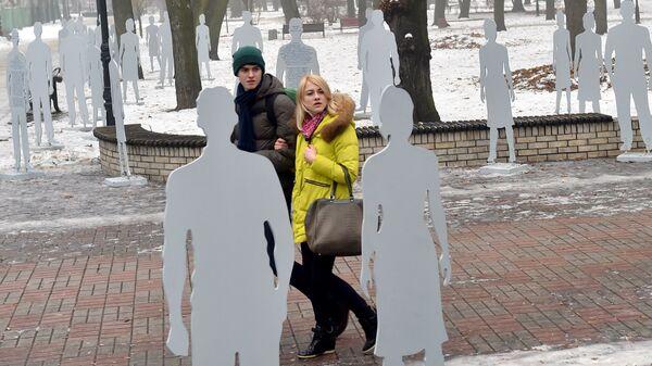Инсталляция в центре Киева. Архивное фото