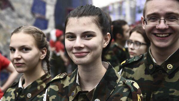 Участники Первого форума Юнармии Москвы. Архивное фото