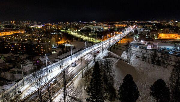 Гоголевский путепровод в Петрозаводске. Архивное фото