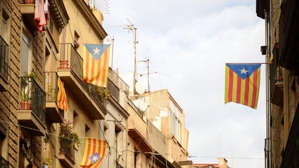Каталонские флаги в Барселоне. Архивное фото