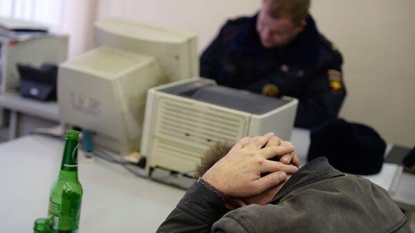 Оформление протокола задержания в отделе МВД