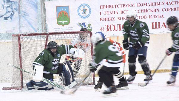 Хоккейный матч I этапа Всероссийских соревнований хоккеистов клуба Золотая шайба