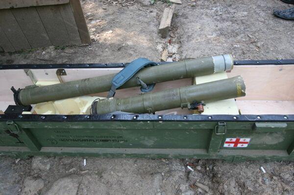 Арсенал оружия грузинских войск