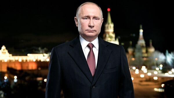 Президент России Владимир Путин во время новогоднего обращения. Архивное фото