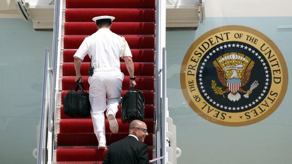 Ядерный чемоданчик президента США Дональда Трампа