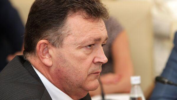 Петр Михальчевский в должности министра здравоохранения Республики Крым. Архивное фото