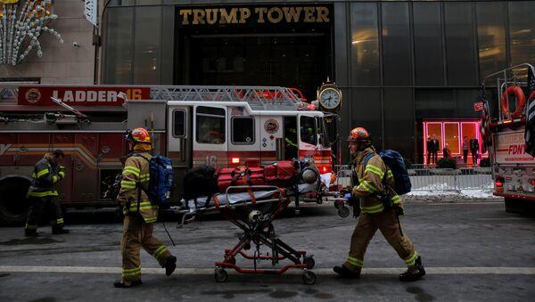 Пожар в Трамп-Тауэр в Манхэттене. 8 января 2018
