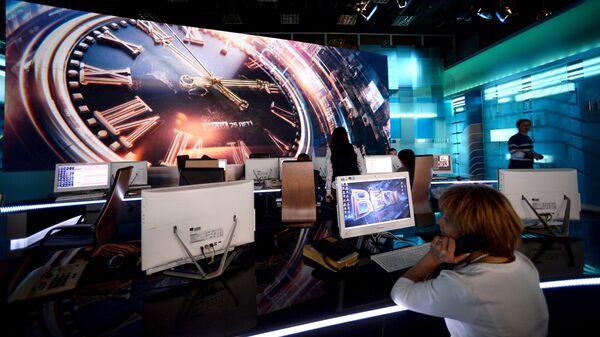 Студия программы Вести в здании ВГТРК. Архивное фото