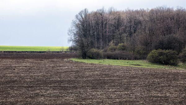Вспаханное поле на Украине