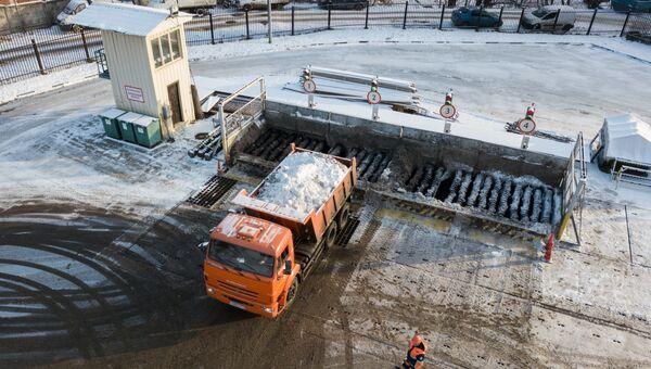 снегоплавильный пункт в Москве