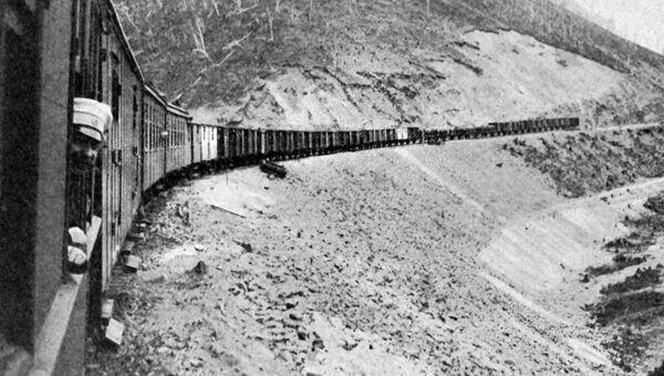 Поезд на Сибирской железной дороге, 1905 год