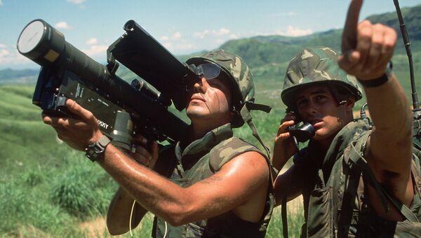 Морские пехотинцы с ПЗРК FIM-92 Stinger. 1984 год