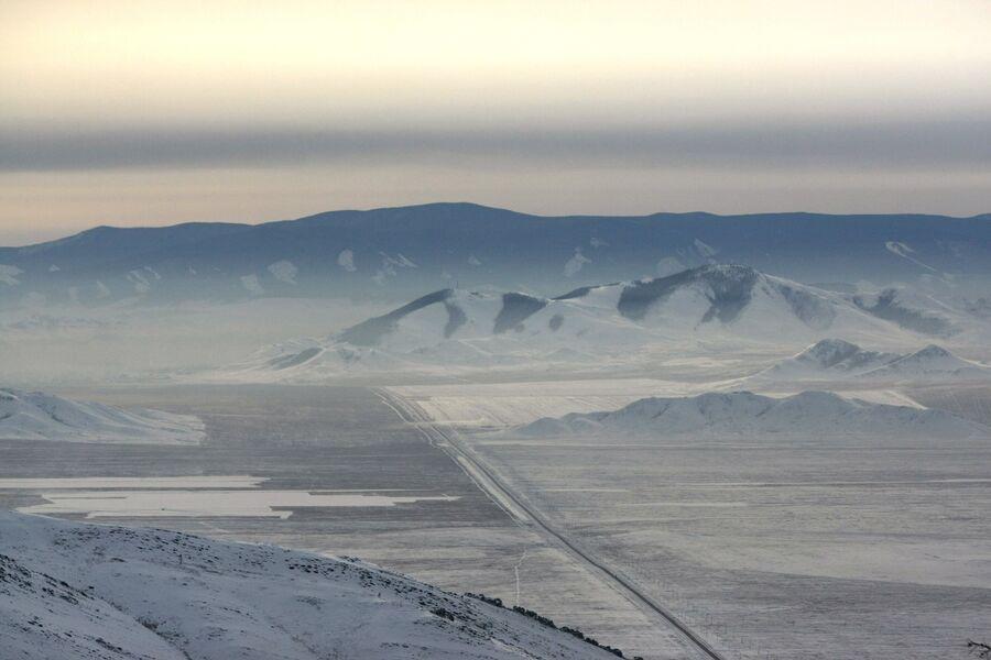 Участок Федеральной автомобильной дороги М54 Енисей Абакан -Кызыл в Пий-Хемском районе республике Тыва