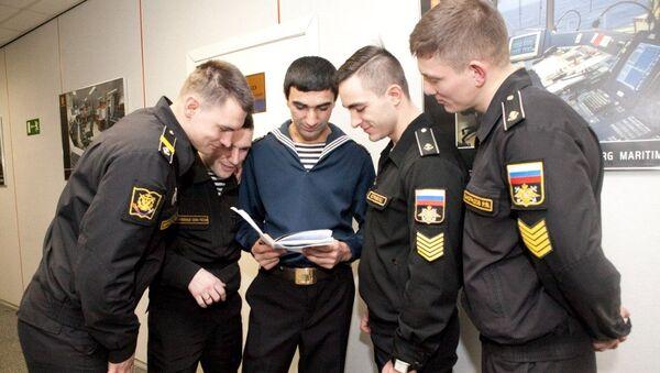 Курсанты в Военно-Морском Институте. Архивное фото