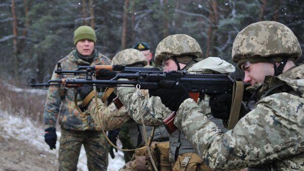 Обучение украинских военнослужащих на Яворивском полигоне