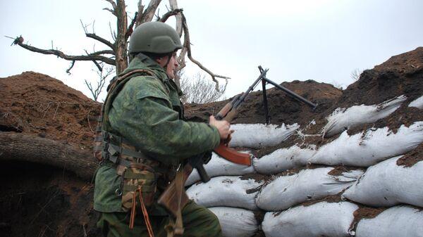 Военный в ДНР
