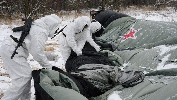 Учения инженерно-маскировочного полка в Московской области
