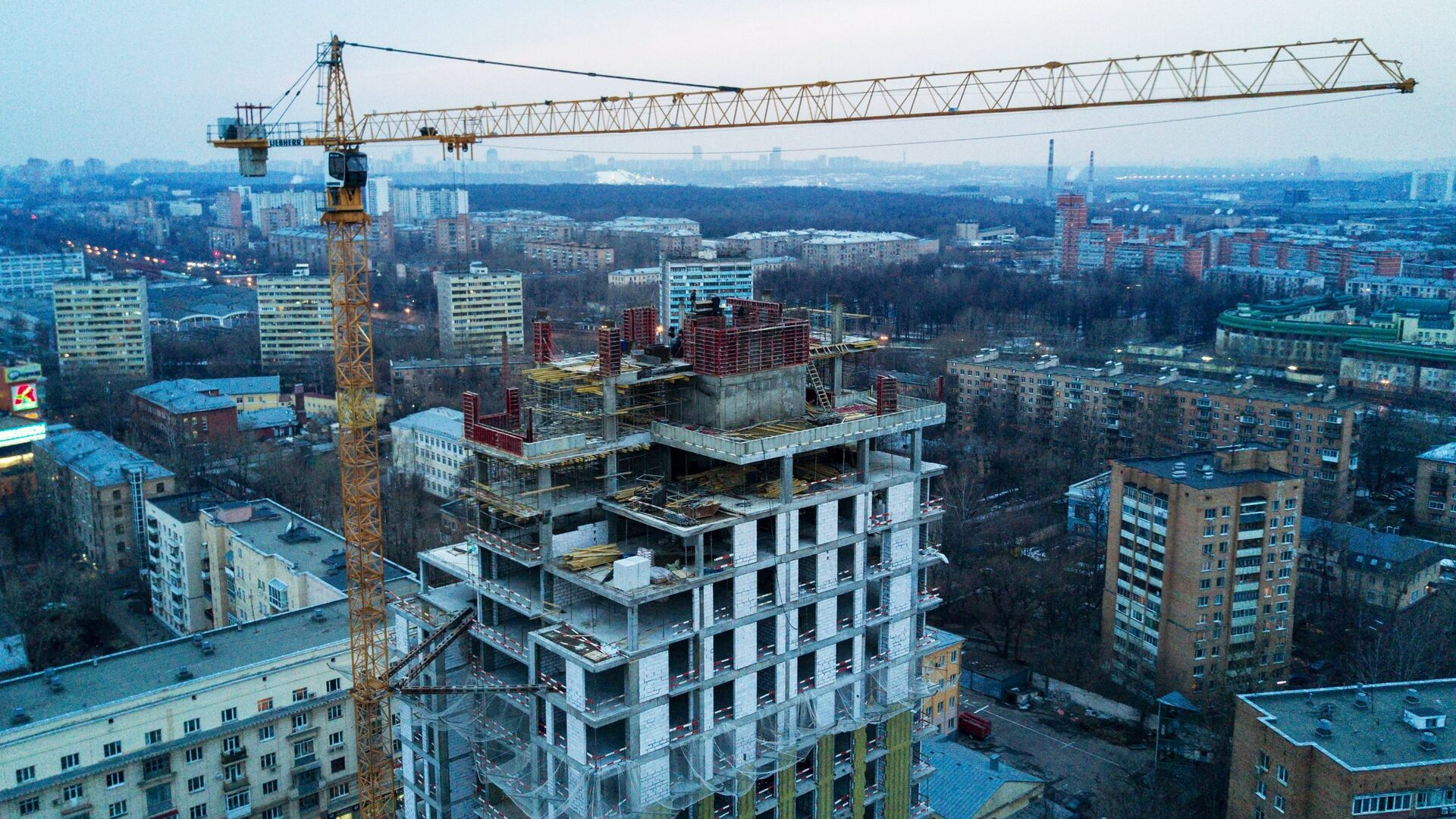 Строительство жилого дома - РИА Новости, 1920, 26.11.2020