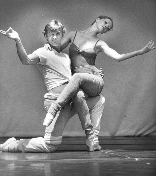 Михаил Барышников и Джудит Фьюгейт на репетиции в Лос-Анджелесе, 1979 год.