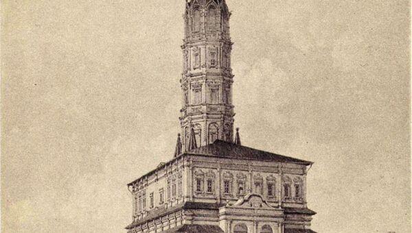 Масляный фонарь у Сухаревой башни, 1-я половина XIX века.