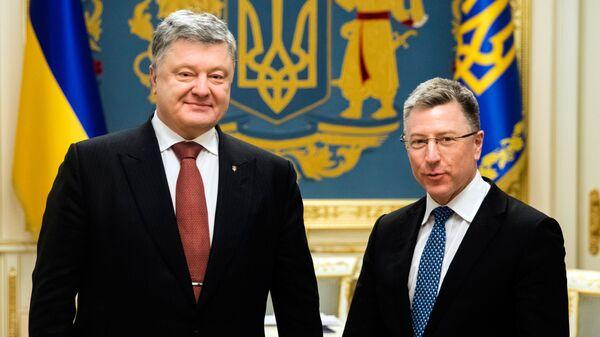 Встреча президента Украины Петр Порошенко с спецпредставителем США Куртом Волкером
