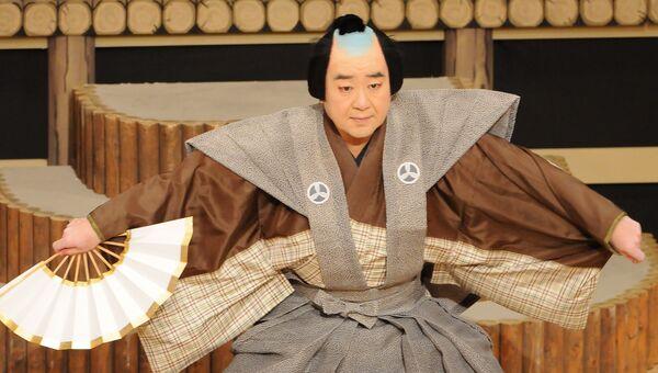 Сцена из представления Японского театра кабуки