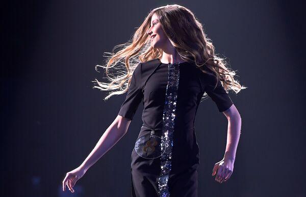 Участница выступает на XX Республиканском конкурсе красоты Мисс Татарстан-2018 в Казани