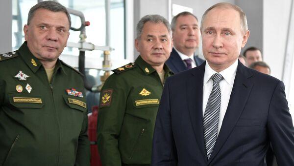 Президент РФ Владимир Путин во время посещения Казанского авиационного завода. 25 января 2018