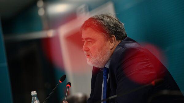 Руководитель Федеральной антимонопольной службы Игорь Артемьев на пресс-конференции в Москве. 25 января 2018