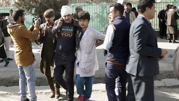 Пострадавшие от взрыва в Кабуле, Афганистан. 27 января 2018