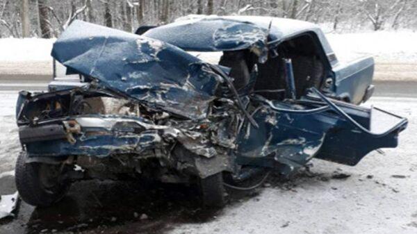 Последствия ДТП в Семилукском районе на 209 км автодороги Курск-Воронеж-Борисоглебск. 28 января 2018