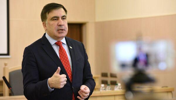 Михаил Саакашвили на заседании Верховного суда Украины. 29 января 2018