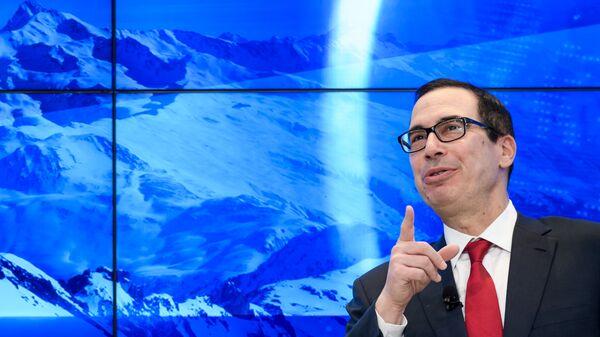 Министр финансов США Стивен Мнучин в Давосе