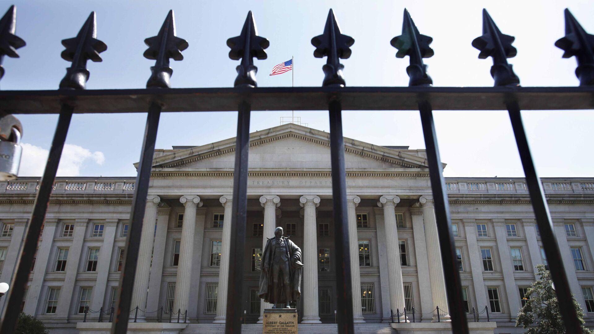 Здание Министерства финансов США в Вашингтоне - РИА Новости, 1920, 10.09.2020