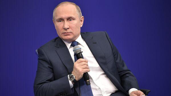 Кандидат в президенты РФ Владимир Путин. 30 января 2018